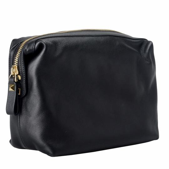 6efe31d50b Valentino Garavani Women's Finger Black Leather Clutch - Tradesy
