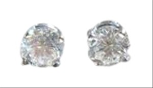 E (Colorless) .93 Carat Fine Quality Diamond Stud Solitaire Earrings