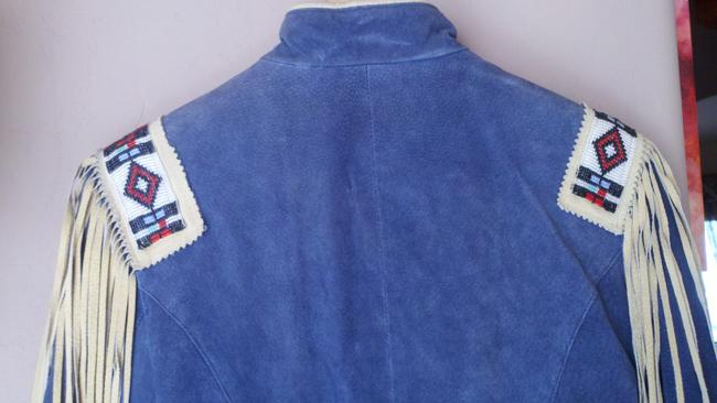 Phoenix USA Frontier Collection Blue Suede Leather Jacket