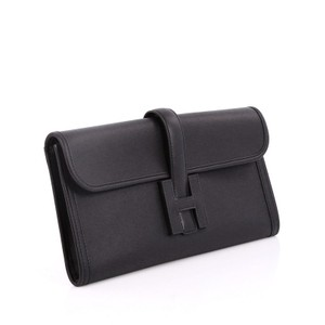 Hermès Leather Black Clutch