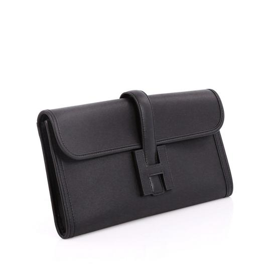 Preload https://img-static.tradesy.com/item/21966277/hermes-jige-swift-29-black-leather-clutch-0-3-540-540.jpg