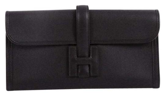 Hermès Leather Black Clutch Image 2