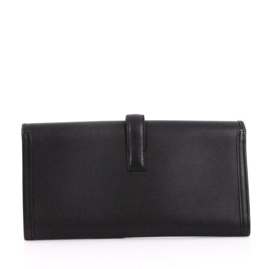 Hermès Leather Black Clutch Image 3