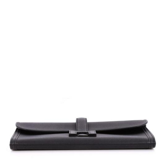 Hermès Leather Black Clutch Image 4