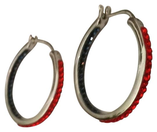 Ware's Jeweler Rhinestone Hoop Earrings