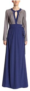 Blue Maxi Dress by Candela Long Sleeve Maxi Nyc New Long Draped Wrap Gown Maxi Chic Bohemian Festival