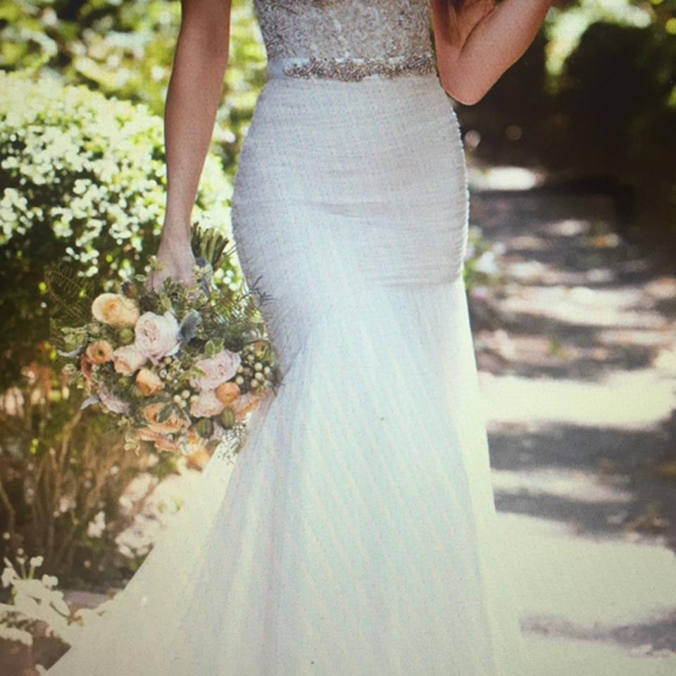 Martina Liana Ivory French Tulle Over Ivory Dolce Satin Separates Sidney Skirt Modern Wedding Dress Size 6 S 37 Off Retail