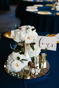 White and Gold Pink and Gold Centerpiece