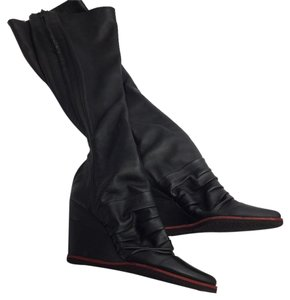 dusica dusica Wedge black Boots