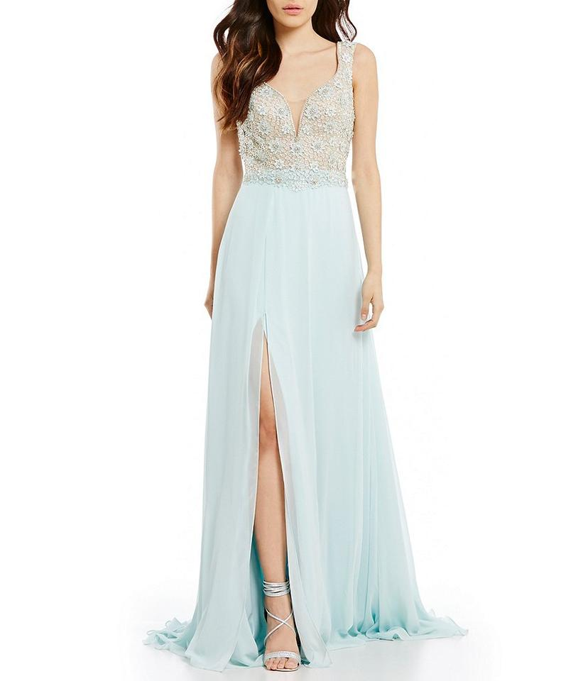 Terani Couture Seafoam Glamour-by-terani-couture-illusion-beaded ...