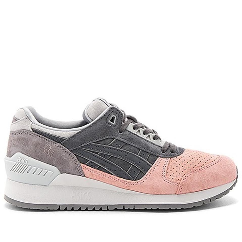 Asics Gel Gray and Pink Platinum Gel Asics Respector Sneakers f9cdc2
