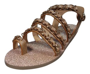 Chanel New Gold Sandals
