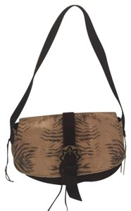 Casadei Animal Print Suede Shoulder Bag