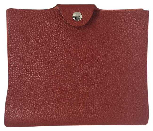 Hermès Red Togo Leather Ulysee Pm Notebook Cover Hermès Red Togo Leather Ulysee Pm Notebook Cover Image 1