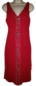 Sue Wong Embellished Sleeveless Beaded Dress