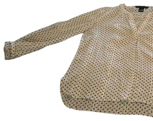 Marc by Marc Jacobs Top White with black and brown polkadots.