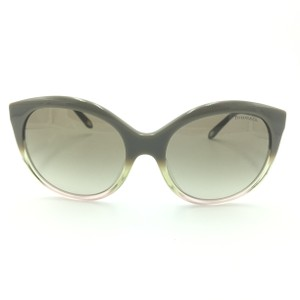 Tiffany & Co. Round Cat Eye Gradient Taupe Pink Silver Heart Sunglasses tf4133 8226