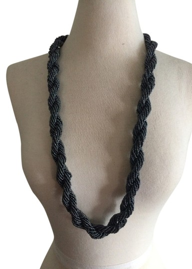 Preload https://item4.tradesy.com/images/silver-beads-twisted-beaded-strand-necklace-2196818-0-0.jpg?width=440&height=440