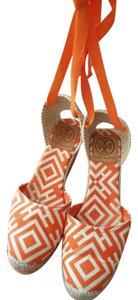 Tory Burch Orange/multi Wedges