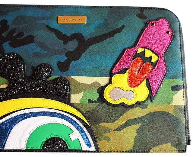 Item - Clutch New Pouch Handbag Clouds Julie Verhoeven Khaki Multi-color Leather Wristlet