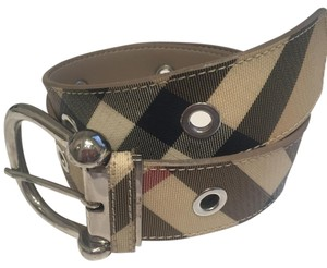 Burberry Check Grommet Belt