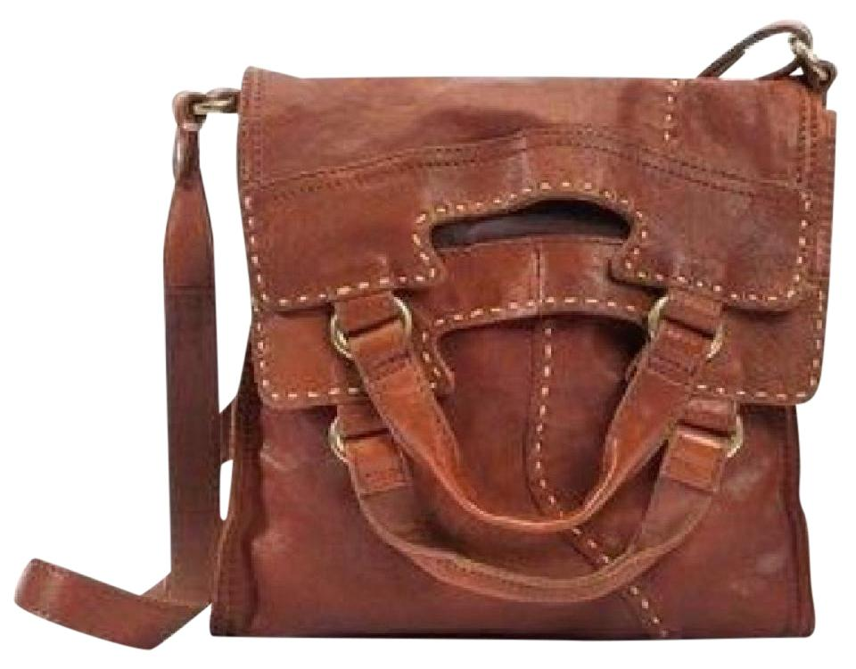Lucky Brand Abbey Leather Brown Messenger Bag