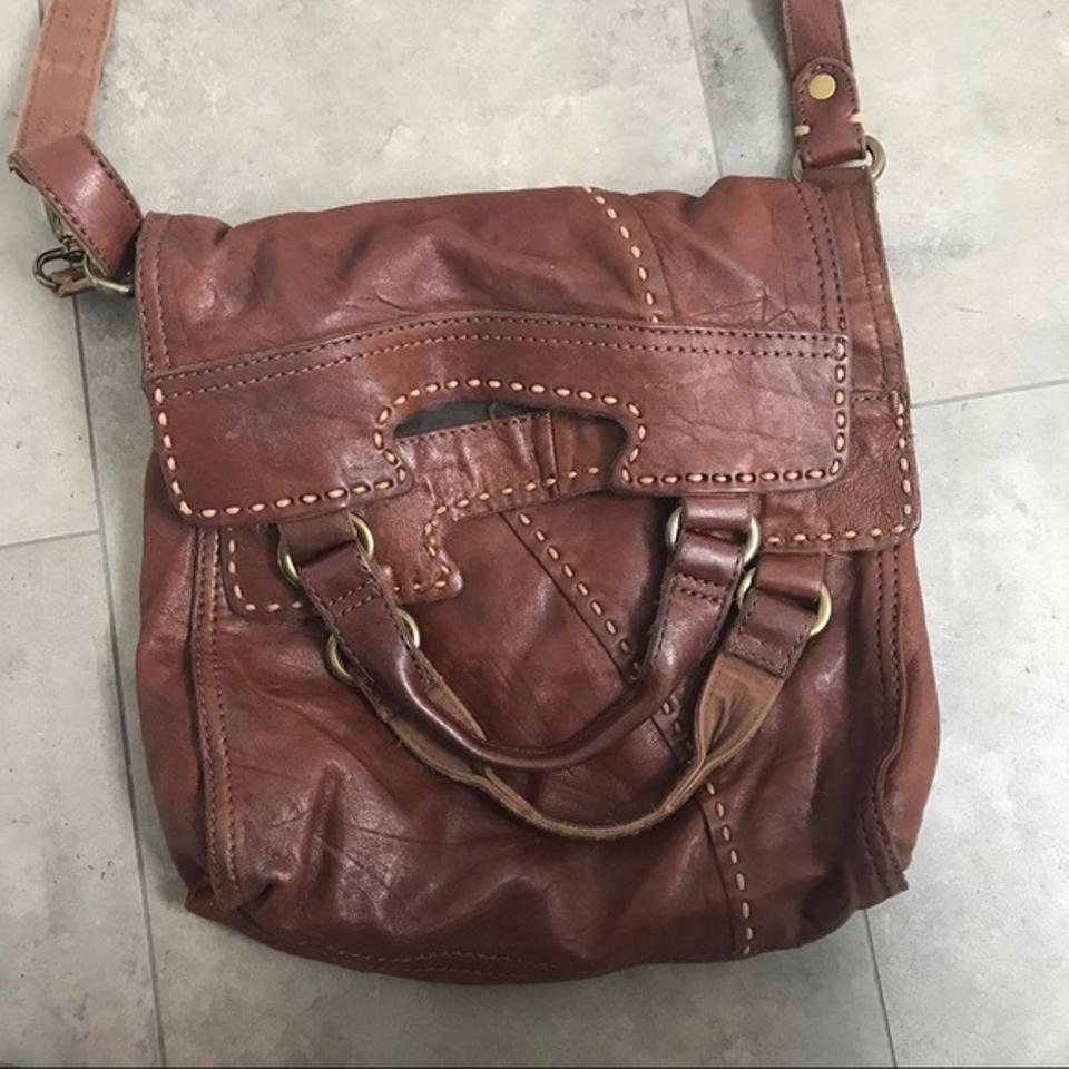 Lucky Brand Abbey Leather Brown Messenger Bag 12345678910