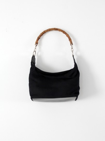 Gucci Bamboo Handle Diana Satchel in Black