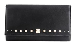 Valentino * Valentino Love Stud Wallet On A Chain Black