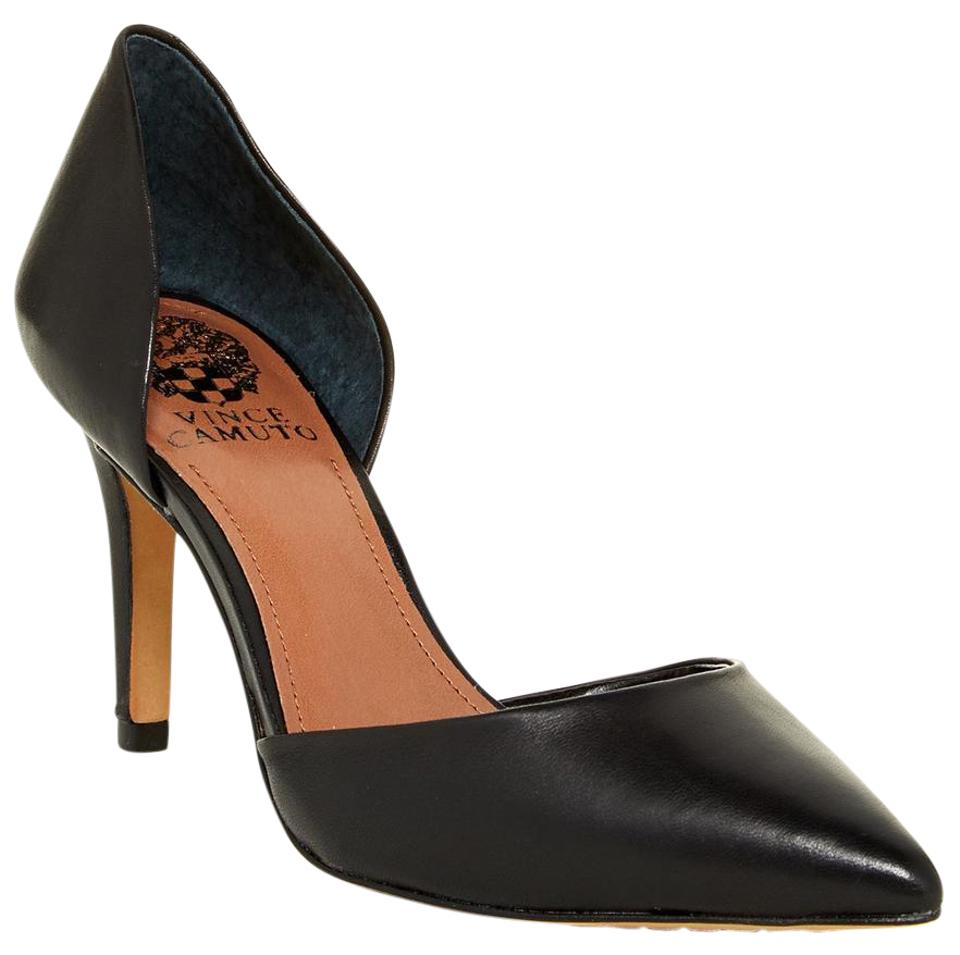 Vince Camuto Black Hill Raccia Pointy Toe D'orsay Hill Black M (38.5 Eu) ~new Pumps 93722a
