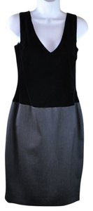 Gianfranco Ferre Gianfranco Ferre Vintage Grey Wool and Black Velvet Dress Suit Size 38