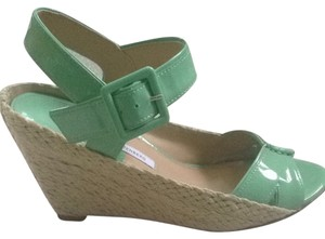 Diane von Furstenberg Mint Green Wedges