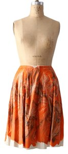 Piazza Sempione Abstract Print Skirt Orange
