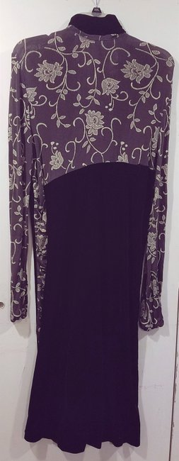 Brown Maxi Dress by Bendigo Petite Vintage Maxi Evening Wear Floral Longsleeve Image 1