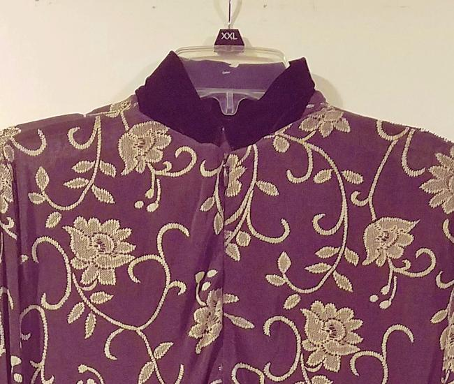 Brown Maxi Dress by Bendigo Petite Vintage Maxi Evening Wear Floral Longsleeve Image 2