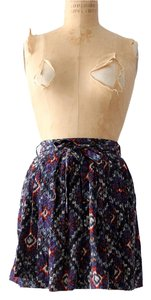 Sparkle & Fade Mini Geometric Boho Mini Skirt Navy
