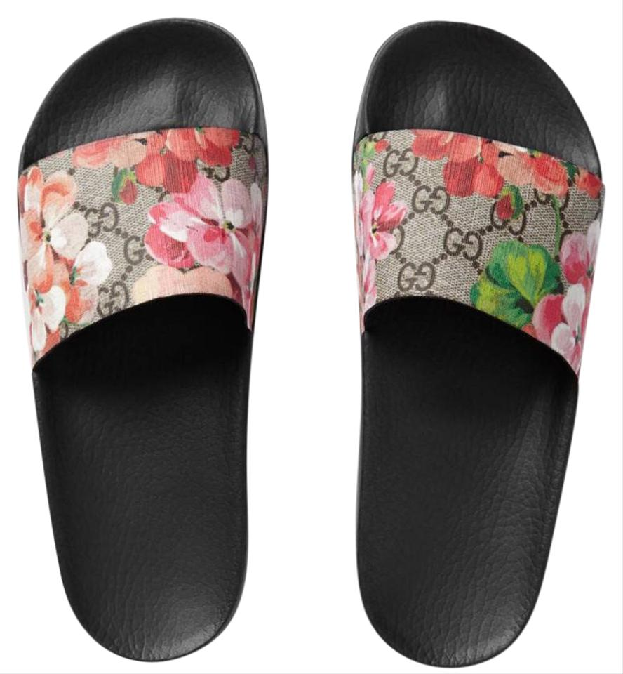 fa20f2d1fd941 Gucci Women s Gg Blooms Supreme Slide Sandals Size US 10 Regular (M ...