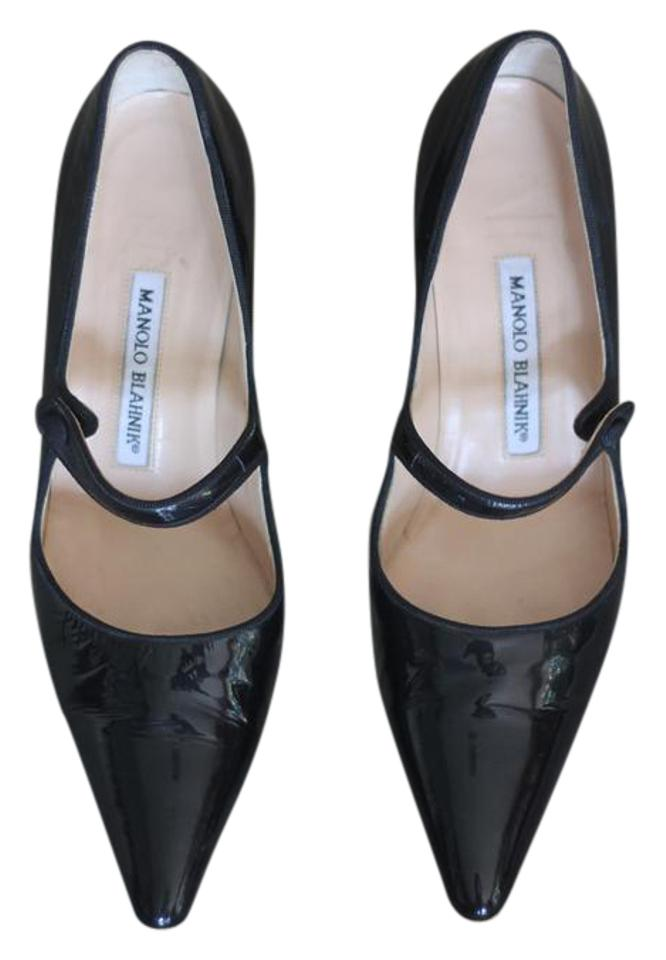 697c610143d43 Manolo Blahnik Black Patent Classic Mary Janes Maryjane Pumps. Size: EU  37.5 (Approx. US 7.5) Regular ...