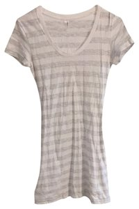 American Apparel short dress White/gray Stripe on Tradesy