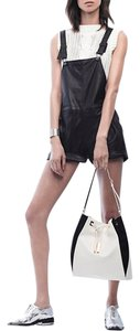 Rag & Bone Leather Overalls Jumper & Intermix Shortalls Shorts Black Leather