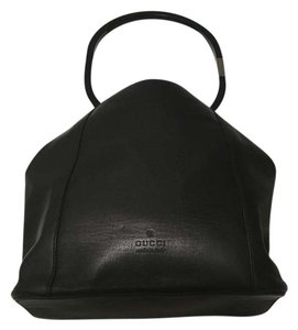 Gucci Tom Ford Leather Leather Vintage Tote in Black