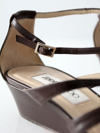 Jimmy Choo Strappy Leather Brown Sandals