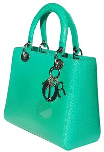 Dior Lady Python Tote in Emerald