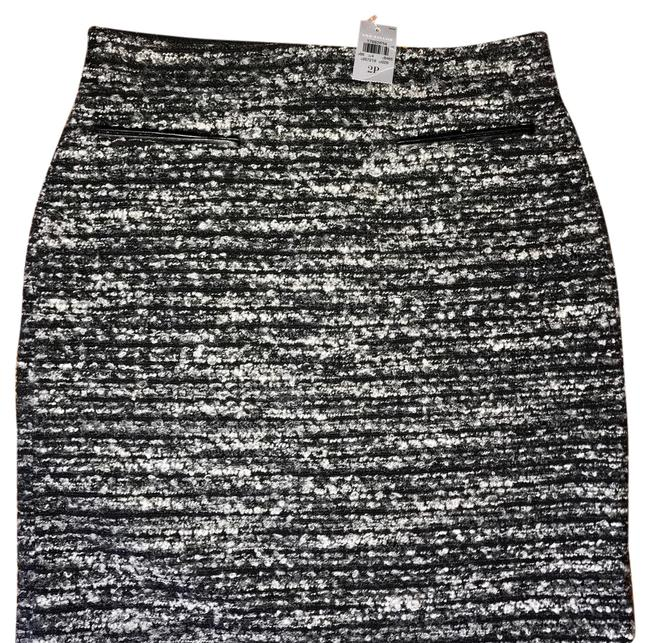 Item - Gray and Black Wool Boucle Pencil Skirt Size Petite 2 (XS)