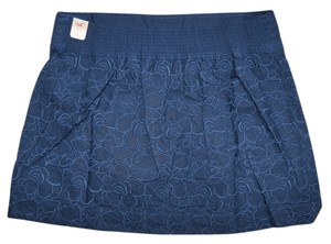Hollister Casual Cotton Mini Mini Skirt Dark Navy