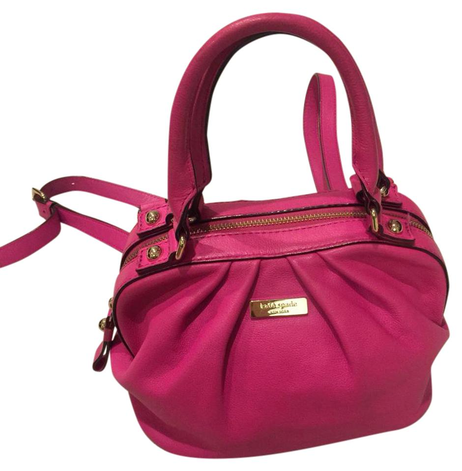 Kate Spade Hot Pink Leather Cross Body Bag