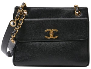 5add71b0d77a Chanel Timeless Shopping Vintage Cc Logo Small Black Caviar Leather Tote