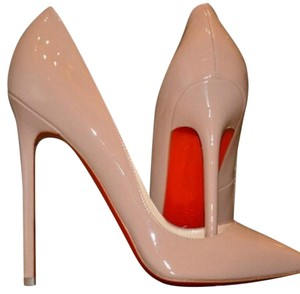 Christian Louboutin Leather Pigalle Stiletto Nude patent Pumps