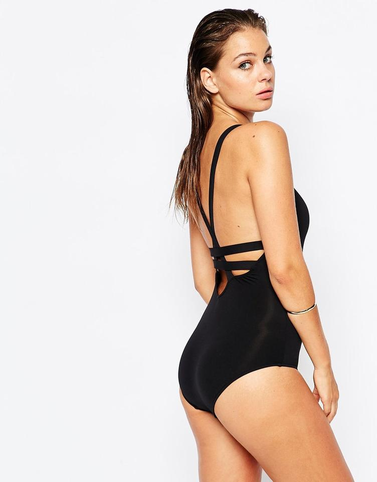 452fd8c51a2ed SeaFolly Seafolly Fastlane Active Deep-V Maillot One Piece Swimsuit Image  7. 12345678