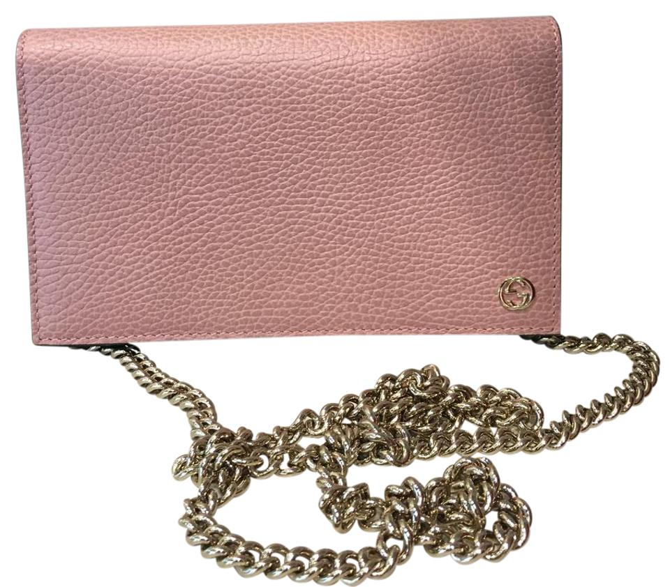 f6a62a1959b Gucci Leather Wallet On Chain Pink Cross Body Bag - Tradesy